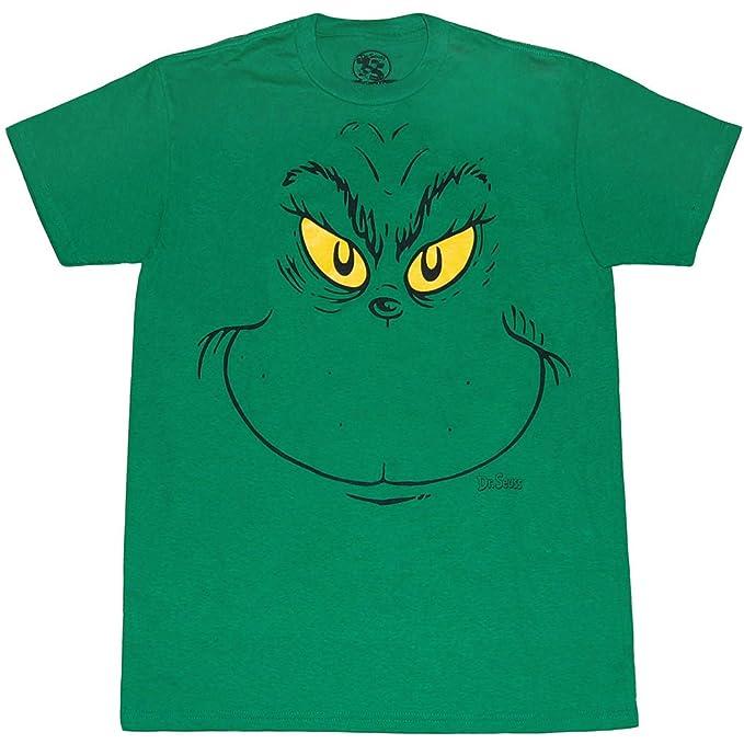 ba8a4a54d Amazon.com: Dr. Seuss Grinch Face T-Shirt: Clothing