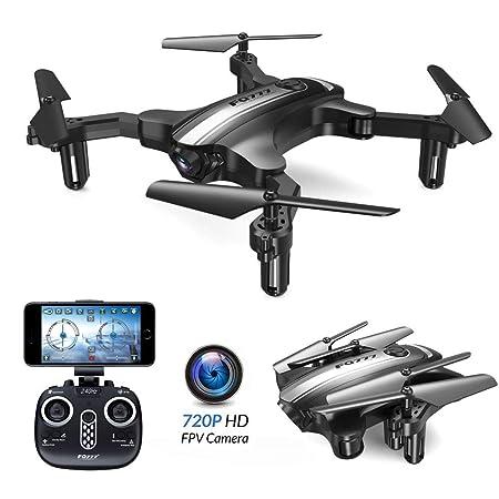 E-kinds Drone Plegable, Avión 0.3MP / 2.0MP WiFi Cámara Anti ...