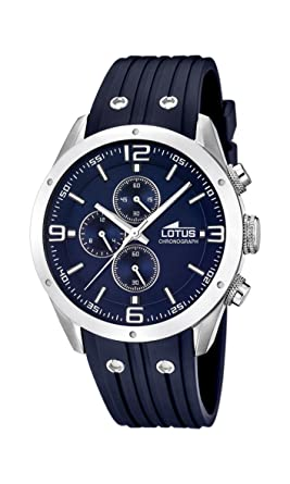 Amazon.com: Lotus 15969-2 Mens All Blue Rubber Chronograph Watch: Watches