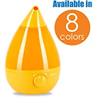 Crane Ultrasonic Cool Mist Humidifier, Filter-Free, 1 Gallon, for Home Bedroom Baby Nursery and Office, Orange