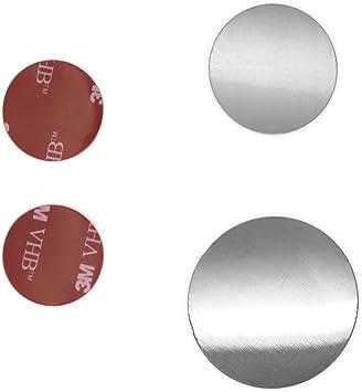 YOSH Metallplatten 4 runde 4 Pl/ättchen mit Einem 3M-Kleber f/ür magnetische Universal-Autohalterung//Handuhalterung f/ür Auto//magnetischer St/änder