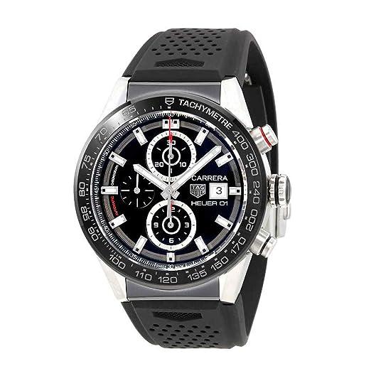 TAG Heuer Carrera Reloj de Pulsera para Hombre 43mm CAR201ZFT6046: Amazon.es: Relojes