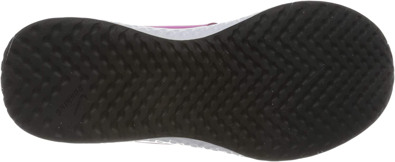 PSV Active Fuchsia Mtlc Silver Black Walking Shoe Unisex-Child Nike Revolution 5