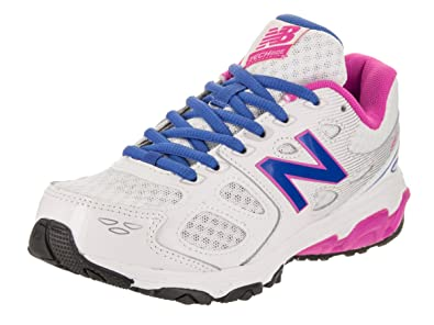New Balance Kids 680v3 - Wide White Blue Running Shoe 12 Wide Kids US 0a5d30265