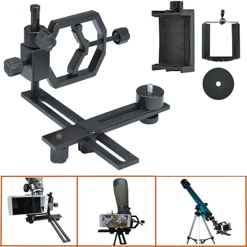 Gosky Telescope Camera Adapter - For Telescope Binocular Monocular Microscope Spotting Scope Etc - 1.25 Inch and 2 Inch Everest