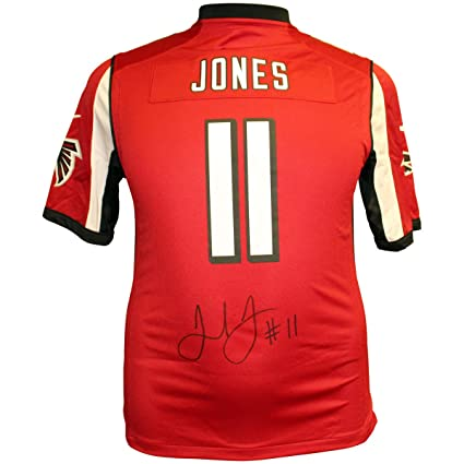 0b1ed276 Julio Jones Autographed Signed Atlanta Falcons Red Nike On Field ...