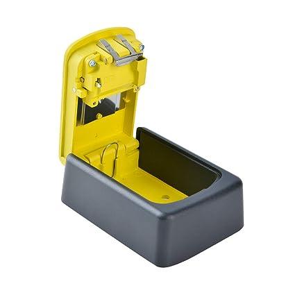SM SunniMix Llave Segura Llave Clave Caja Fuerte Segura para Exterior - 1# Amarillo
