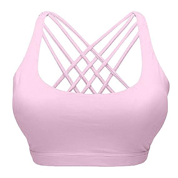 hikong Sujetador deportivo - Básico - para niña rosa rosa: Amazon ...