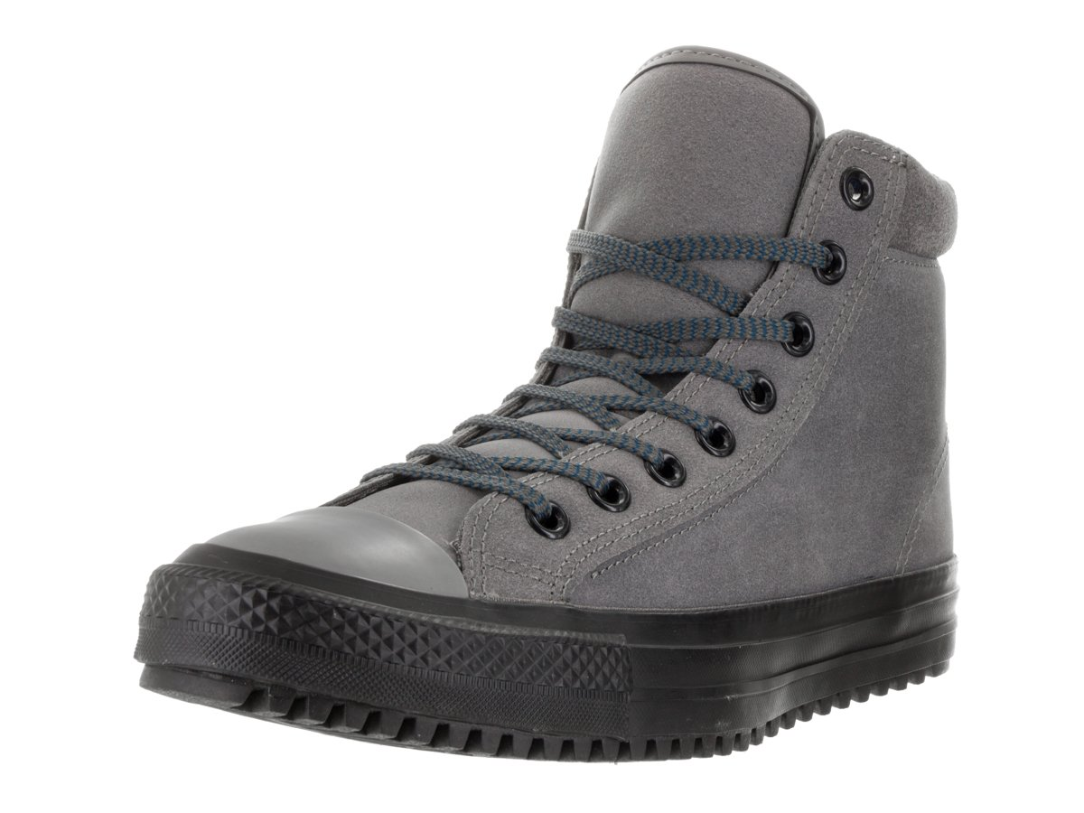 Converse Men's Chuck Taylor All Star Boot PC Coated Leather Hi Charcoal Grey/Blue Lagoon/Black Boot