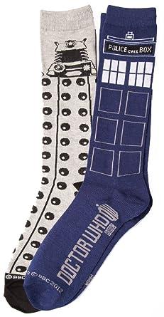 941030f4f2 Amazon.com  Doctor Who Tardis Dalek 2 Pack Socks