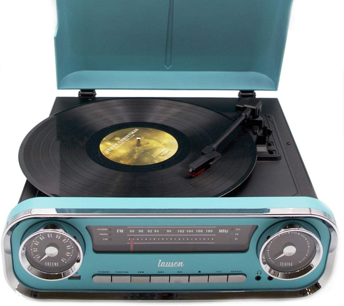 Lauson 01TT18 Tocadiscos Diseño Vintage Coche de Colección con 2 ...