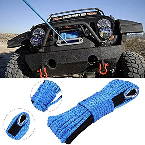 (MOEBULB Car Synthetic Winch Rope Kit 5700+LBs 50'x1/4