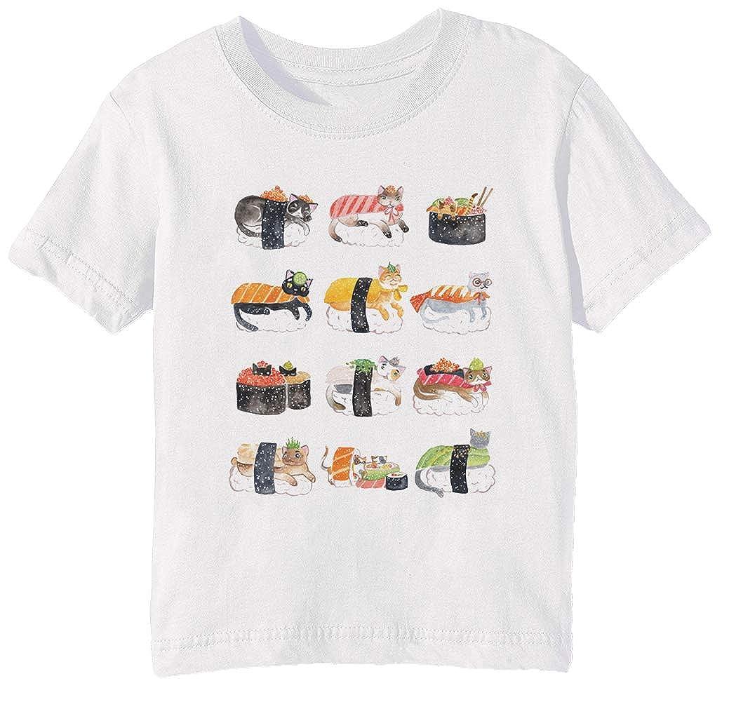 Sushi Gatos - Sushi Niños Unisexo Niño Niña Camiseta Cuello ...