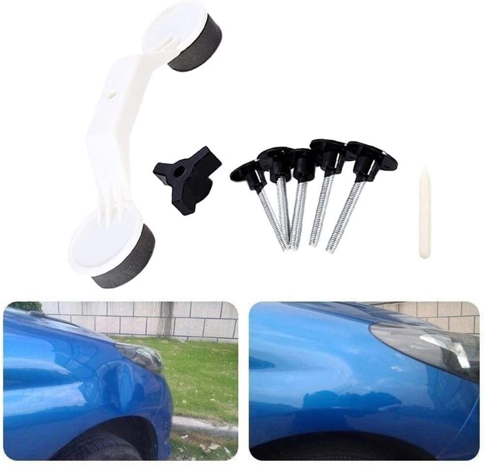 Color : White Car Body Dent Repair Puller Repair Suction Device Hand Tools Hail Removal Kit Vehicle Dent Repairer with 5X Patch#BL1
