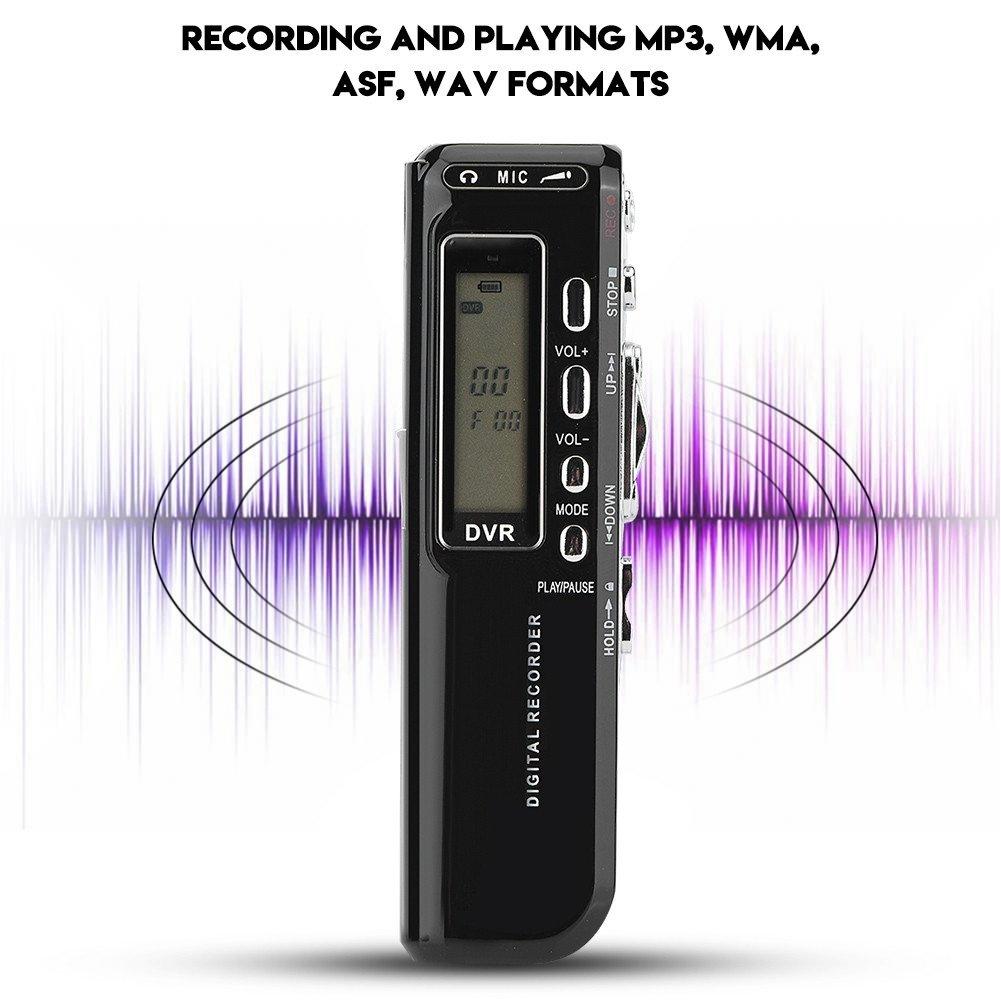Portable Multi-Language Recorder 8G Memory with 4 Recording Modes Auto Recording Recorders(Black Fosa Digital Audio Voice Recorder Pen