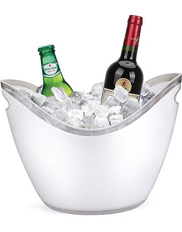 Yobansa - Cubitera de Hielo para Botellas de Vino o champán de acrílico Transparente, Herramientas