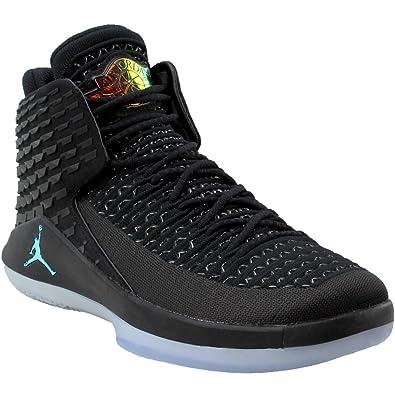 e075e71b81b0 Air Jordan XXXII Men s Basketball Shoes Black Multicolor aa1253-003 (8 D(