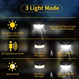 Enkman Solar Lights Outdoor 208 LED,Wireless Motion Sensor Lights with 270° Wide Angle IP65 Waterproof for Deck Fence Post Door Wall Yard and Garage, Yard, Garage, Deck, Pathway, Porch