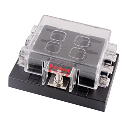 dc32v 6 way terminals circuit car auto blade fuse box block holder  dc32v 6 way terminals circuit car auto blade fuse box block holder atc ato electrical fuse holders amazon com