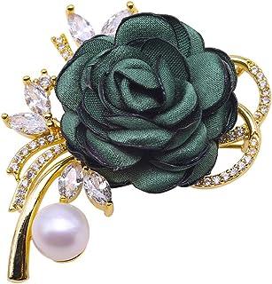Jyx 10-10.5mm Bianco Lavanda Piatto Rotondo Perla d' Acqua Dolce Spilla a Forma di Fiore, Ciondolo a Doppio Uso Tipo per Matrimonio