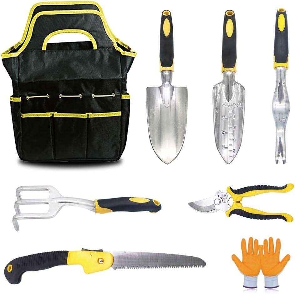 KYLER Gardening Tool Set - 8 Piece Lightweight Durable Garden Kit, Garden Tools Set for Women and Men, Garden Gift Kit