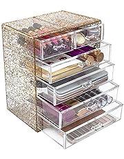 Sorbus Cosmetics Makeup and Jewelry Big Storage Case Display - Stylish Vanity, Bathroom Case