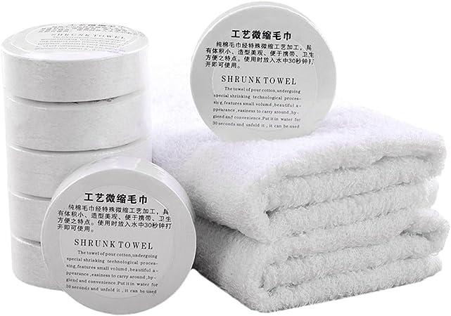 Toallas de mano de algodón comprimido de 30 cm, 30 g, 6 unidades ...