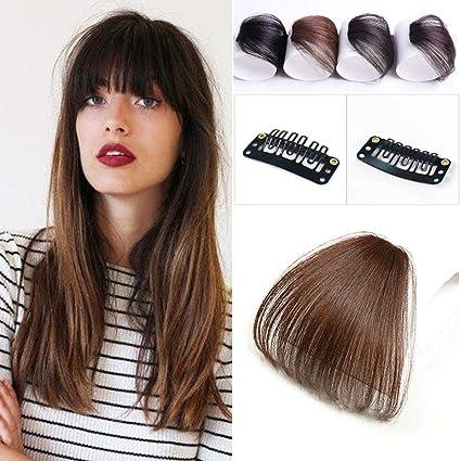 Reysaina Clip on Bangs Light Brown Hair Bangs