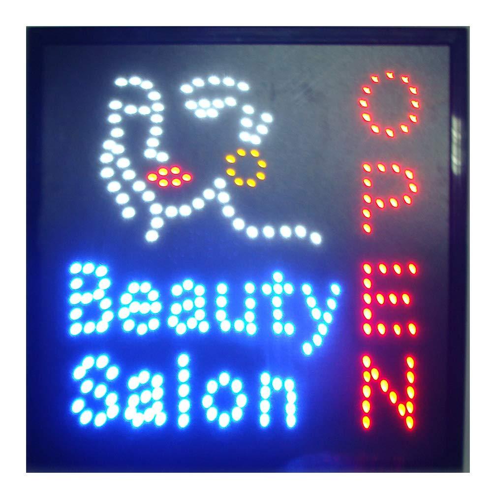 CHENXI led beauty salon hair salon sign billboard led neon light animated electronic animated led sign 48 X 25CM indoor (48 X 48 CM, A)