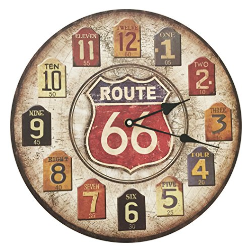 Creative Motion Shabby Chic Route 66 Clock