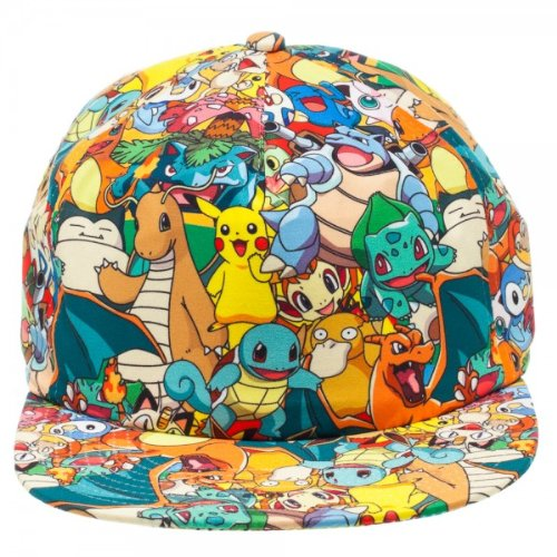 bioWorld Pokemon All Over Print Sublimated Snapback Cap Hat