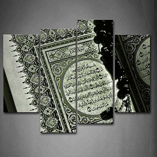 First Wall Art - Islam Book With Words Wall Art Painting Pictures Print On Canvas Religion The Picture For Home Modern Decoration by Firstwallart