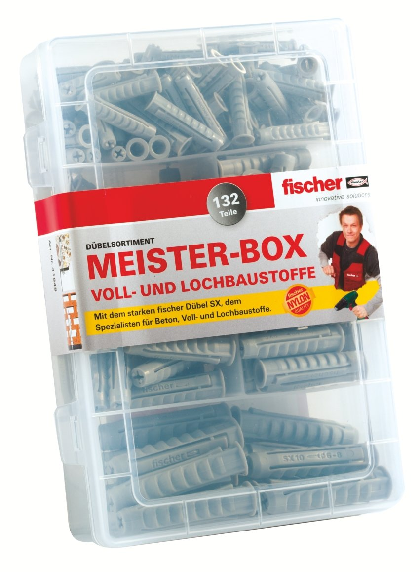 Brandneu Fischer SX Dübel Sortiment Box, Größe 6/8/10, 132 tlg.: Amazon.de  CM94