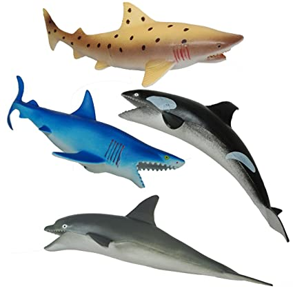 Image of: Cute Image Unavailable Amazoncom Amazoncom Shark Toys Ocean Animals Figuressea Life Creature For