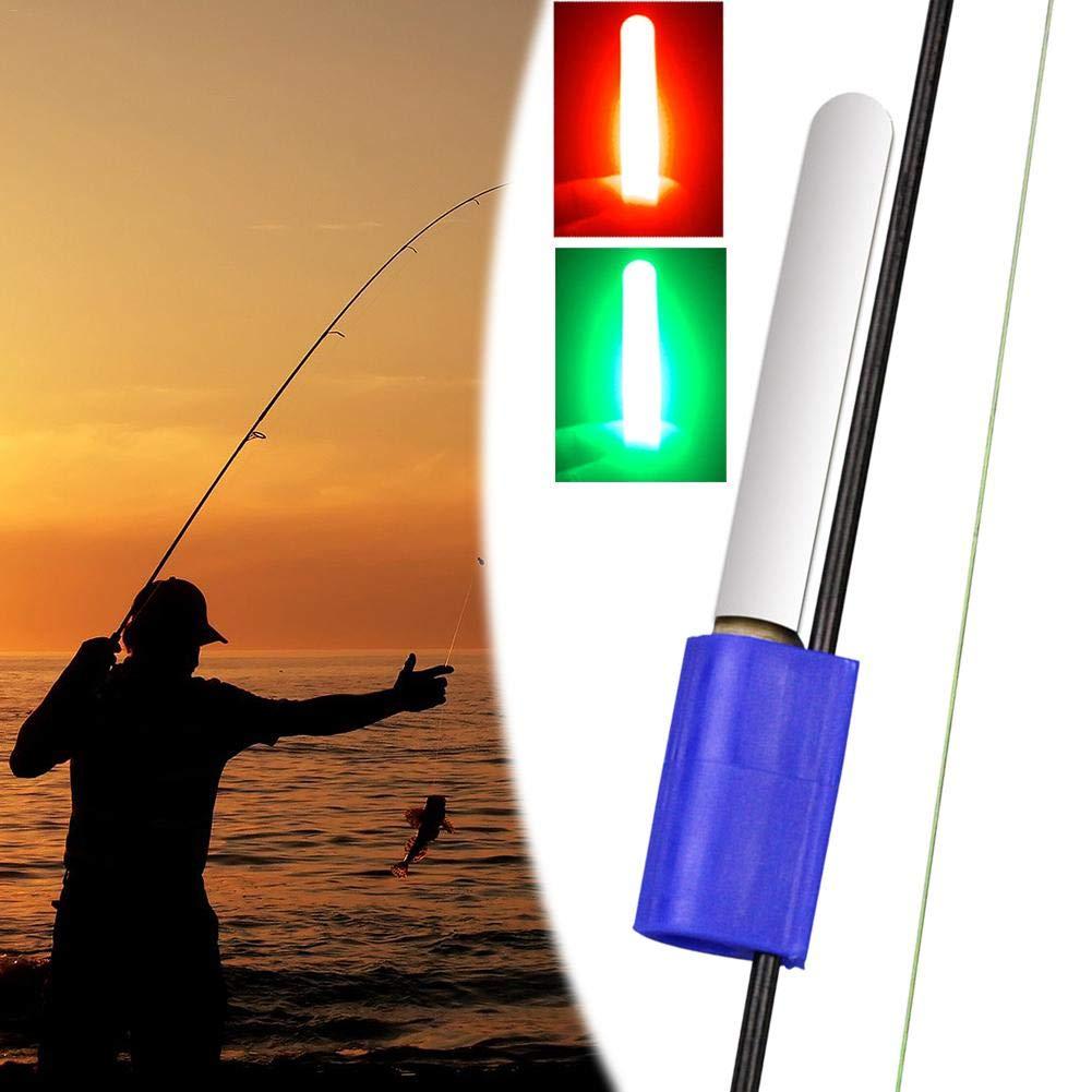 Mini Glow Sticks Fishing Rod Clip-on Night Light Float Rod Lights Fishing Accessories Red, Green Fishing Glow Sticks