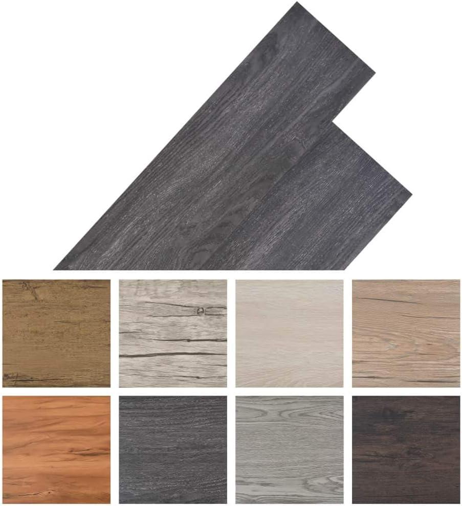 vidaXL PVC Laminat Dielen 5,26m/² 2mm Schwarz Wei/ß Vinylboden Bodenbelag Boden