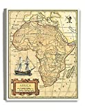 DecorArts- Africa map wall art. Ancient Map Giclee Print Canvas art wall decor, Map of Historical Africa.20x16''