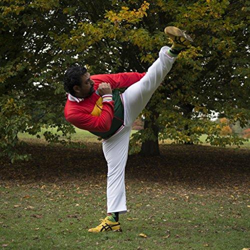 Original Brasilianische Capoeira Hose Unisex weiß Abada Martial Arts Elastische Pants.