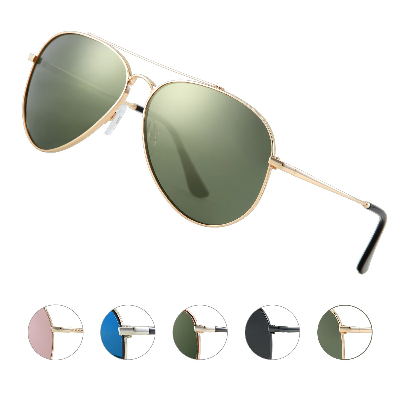 b43f1c71707 Aviator Sunglasses Mens Polarised Sunglasses with UV 400 Protection Mens  Designer Sunglasses PC Lens   Unbreakable