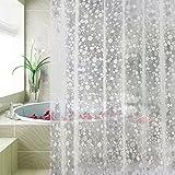 Carttiya Shower Curtains, 100% EVA Waterproof Bathroom Curtains, [PVC Free] [Chlorine Free] [Mold Mildew Free] Bath Curtains, 180 cm x 180 cm Transparent