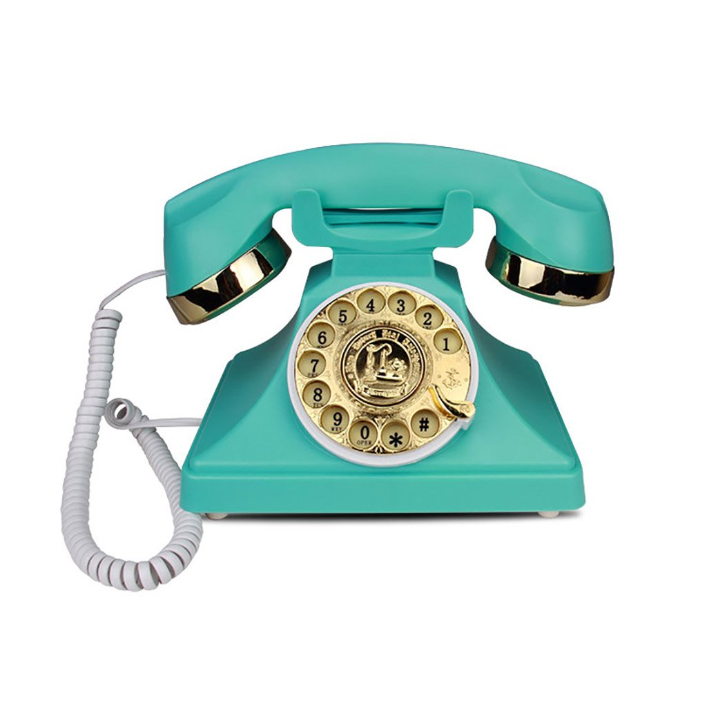 Antique Rotary dial Phone, Creative Fashion Office Home Card Cable Vintage Retro Telephone landline, a Variety of Styles to Choose from YiYi SHOP