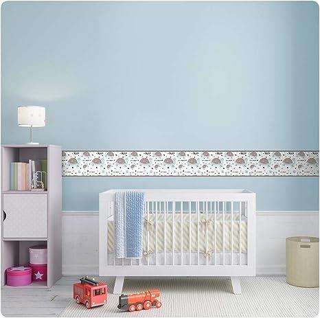 setecientosgramos Cenefa Auto-Adhesiva Decoraci/ón de Pared Infantil Nubes Design 1 5 m x 15 cm