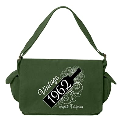 Tenacitee Born in 1962 - Aged Like a Fine Wine Brushed Canvas Messenger Bag