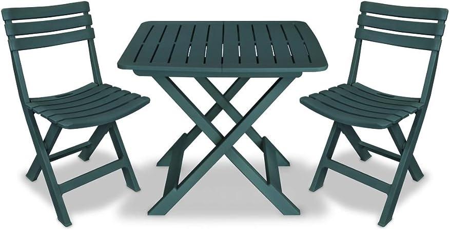 Tavoli E Sedie In Plastica Da Giardino.Festnight Set 3 Pz Di Mobili Tavolo E Sedie Pieghevoli In Legno