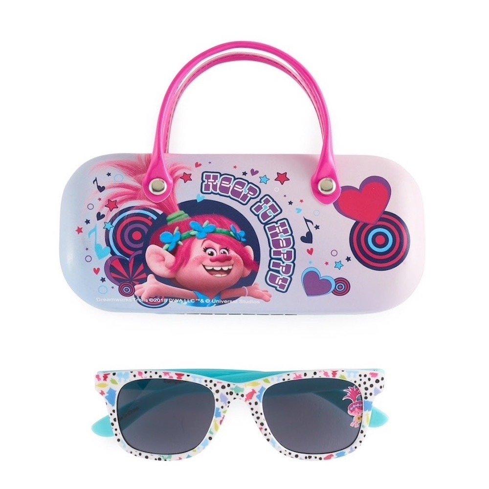 DreamWorks Trolls Poppy Girls 4-16 Sunglasses /& Hardcase Set
