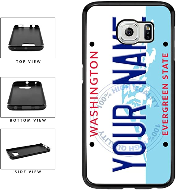 Custom License Number Vanity Decal Stickers Plate WA State