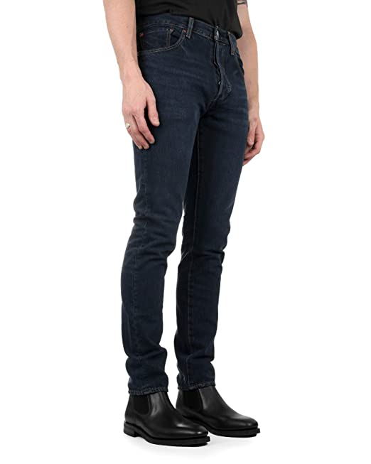 Boutique en ligne 753ad 0e181 Levi's Mens 501 Skinny Fit Jeans in Dark Blue- Button Fly ...