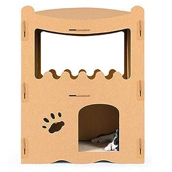Muebles para Gatos Casa De Gato De Dos Pisos Tablero del Rasguño del Gato Marco Que