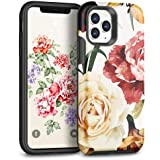 MAXCURY for iPhone 11 Pro Case, Floral Phone Case for Girls, Shockproof Sturdy Slim Fit iPhone 11 Pro Silicone Protective Cov