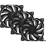 upHere Long Life Computer Case Fan 120mm Cooling Case Fan for Computer Cases Cooling,3-Pack,12BK3-3